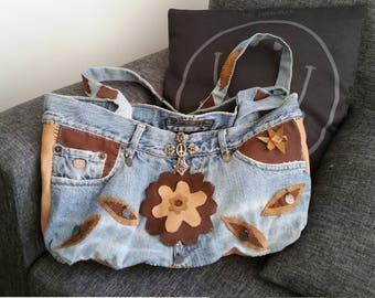 Hippie Denim & leather bag