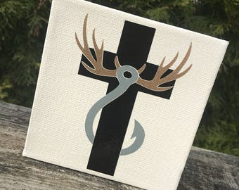 Faith - Hunting - Fishing Mini Canvas Sign