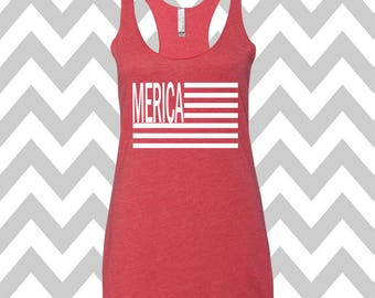 Merica Tank Top USA Tank Top Stars Tank Top Country Music Tank Top Stars and Stripes America Flag Tank Top Flag Tee 4th Of July Shirt Merica