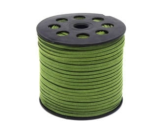 Suede cord 3mm Green batch of 2/5/8/10 m