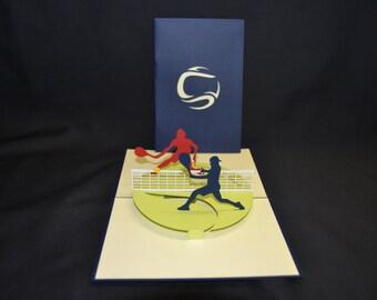3-D Tennis Pop-Up Card