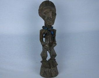 African tribal art nkisi statuette-SONGYE-DR Congo