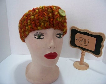 Small headband fall with front button colors #19