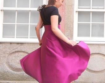 Wreck Maxi Skirt, Summer Asymmetric Skirt, Bridesmade Marsala Skirt, High Waisted Long Skirt, Woman Skirt