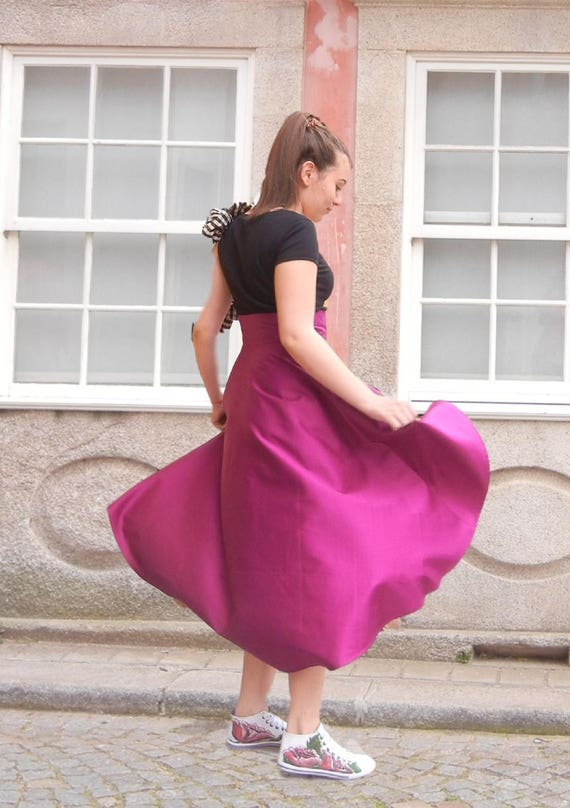 Wreck Maxi Skirt, Summer Asymmetric Skirt, Bridesmade Marsala Skirt, High Waisted Long Skirt, Woman Skirt