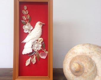Vintage shell art