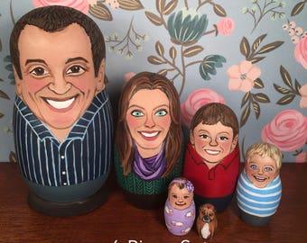 6-Piece Custom Nesting Doll Set
