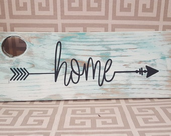rustic white and teal HOME house warming wedding gift decor