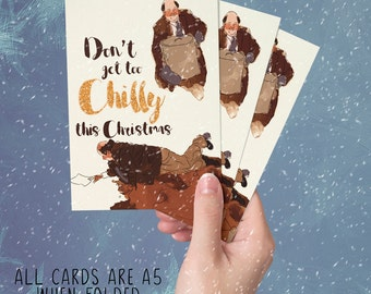 Kevin Malone funny Christmas Card - The Office US Dunder Mifflin Chili Day - Don't get too Chilly this Christmas