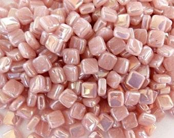 8mm Micro Mosaic Craft Tiles - Rose Quartz Pearlised