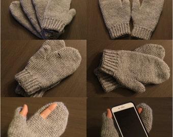 Photographer mittens / fingerless mittens / wool mittens / custom mittens / hooded mittens