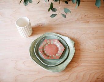 organic & hexagon tapas dinner set