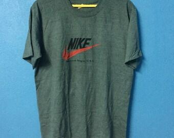 Rare!!vintage 90s nike swoosh shirt big logo size L