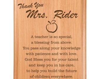 Thank You Teacher Plaque