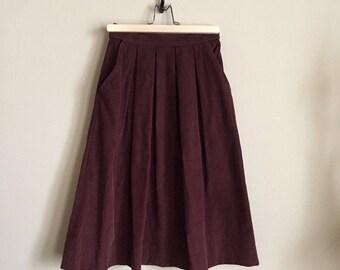 Vintage corduroy skirt, high waisted skirt, vintage highwaist skirt, vintage skirt