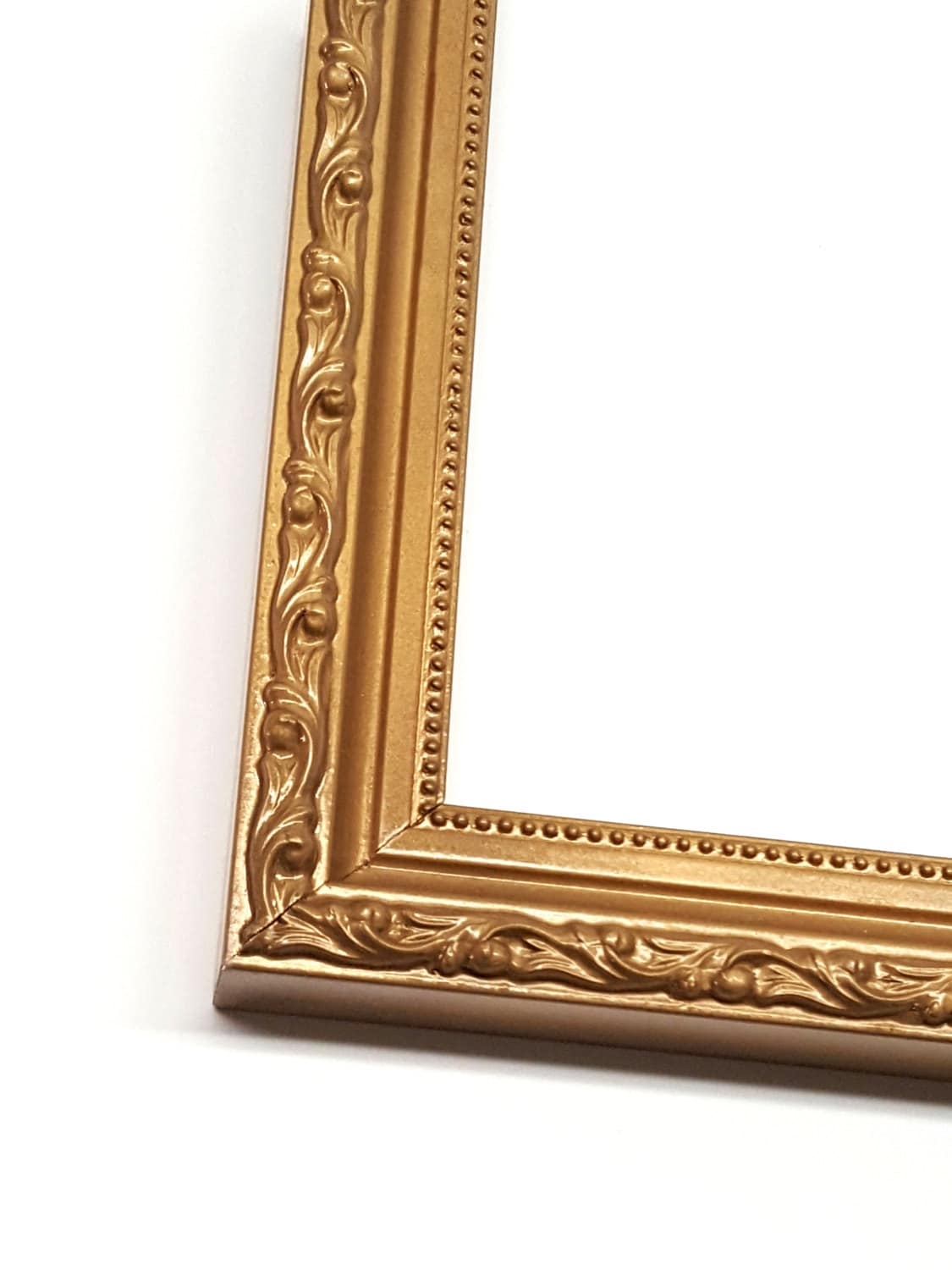 Gold Ornate Solid Wood Photo Picture Frame Shabby Chic Style with No ...