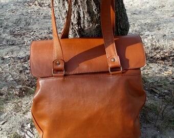 Leather messenger bag Caramel shoulder bag women handbag laptop bag business bag women bag everyday bag genuine Leather work bag diaper bag