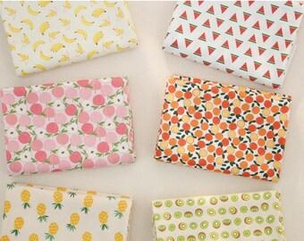 "Fruits World  30s Cotton Fabric - 44""x35"" - Digital Printing - 1 Yard"