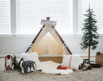 All Natural Canvas Kids Play Tent