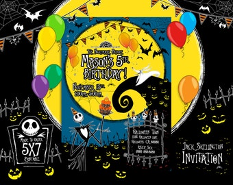 The Nightmare Before Christmas Invitation, The Nightmare Before Christmas Birthday, The Nightmare Before Christmas Party