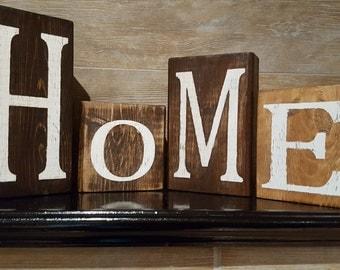 Wood Blocks Home Decor