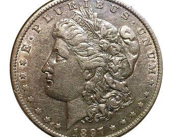 1897 O Morgan Silver Dollar - AU - Almost Uncirculated - Luster