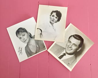 Vintage Movie Star Photographs, Movie Star Headshots, Dean Martin, Dorothy Malone, Jennifer Jones actress, Vintage Photographs, Hollywood