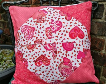 Pink hearts and love cushions