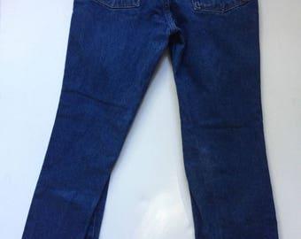 Vintage Wrangler denim jeans 1970's indigo blue denim jeans 30