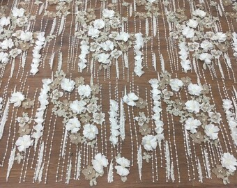lace fabric,beaded lace fabric,ivory lace fabric,wedding lace fabric,french lace fabric,3d lace fabric,tulle lace fabric,bridal lace fabric
