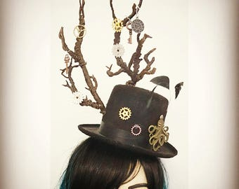 Steampunk Victorian Hat (Festival/Edwardian/Fantasy/Surreal)