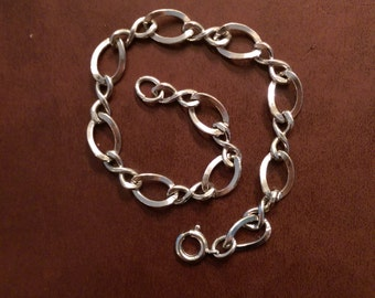 7 and 1/4 inch vintage sterling starter charm bracelet