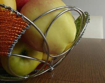 Hand gefertig Draht Obstkorb