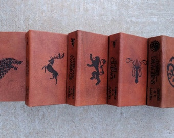 Leather Bound and Lasered Game of Thrones A Song of Fire and Ice Book Series
