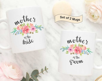 Mother of the Bride and Groom Mugs, Mother of Bride Mug, Wedding Mug Mother of Groom, Mother in law Wedding mug, Mother of Bride Coffee Mug