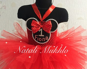 Minnie mouse 1st birthday outfit, Minnie mouse birthday outfit, Minnie mouse tutu, 1st Birthday Girl Outfit, Baby Girl Party Outfit