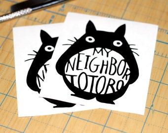 Totoro Sticker   My Neighbor Totoro Decal   Miyazaki Sticker