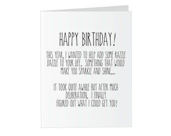 "Prank Glitter Birthday Card - ""Sparkle"" Glitter Bomb Card"