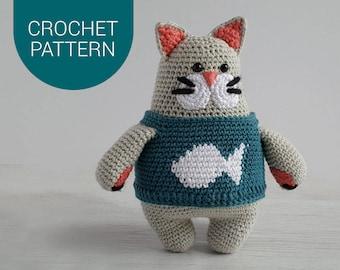 OSCAR CAT | Amigurumi Crochet Pattern | PDF