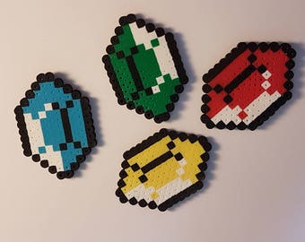 Legend of Zelda rupee magnets