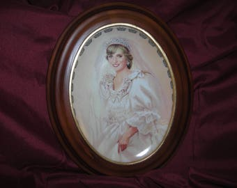 PRINCESS DIANA Oval Plate Bradford Exchange First Issue Beautiful