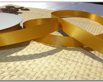 """5 meters-5.46 yard silk double sided satin ribbon 15 mm (3/8 """") double sided satin top quality choose quantity and color"""