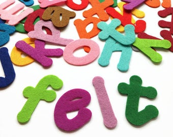 Felt Alphabet, 2 Sets - 52 Die Cut Letters, Applique Lowercase Letters for Crafting, Die Cut Felt Letters, Felt Die Cuts, Sewing Appliques