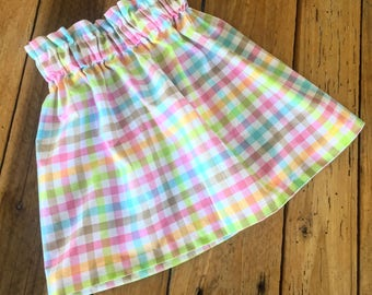 Girls Skirt, Easter Skirt, Easter, Spring, Spring Clothes, Spring Skirt, Skirt, Elastic Top