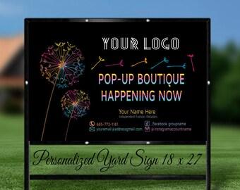 LLRoe Home Office Approved DIGITAL! Custom Yard Sign, Pop Up Boutique Banner- Dandelion