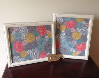 Pair of Large Cream Shabby Chic Frames