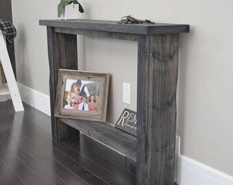 Weathered Grey Entry Table