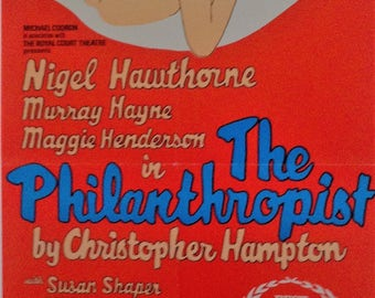 The Philanthropist - Vintage original poster Mayfair theatre circa(1970)