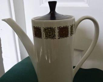 Myott Coffee Pot/Aztec Pattern/Vintage/1960s-1970s
