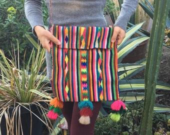Rainbow Andean Alpaca Bag